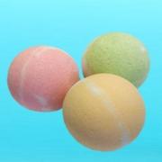 Соль шипучая для ванн с маслом лаванды  (в форме шара) Арт.10197